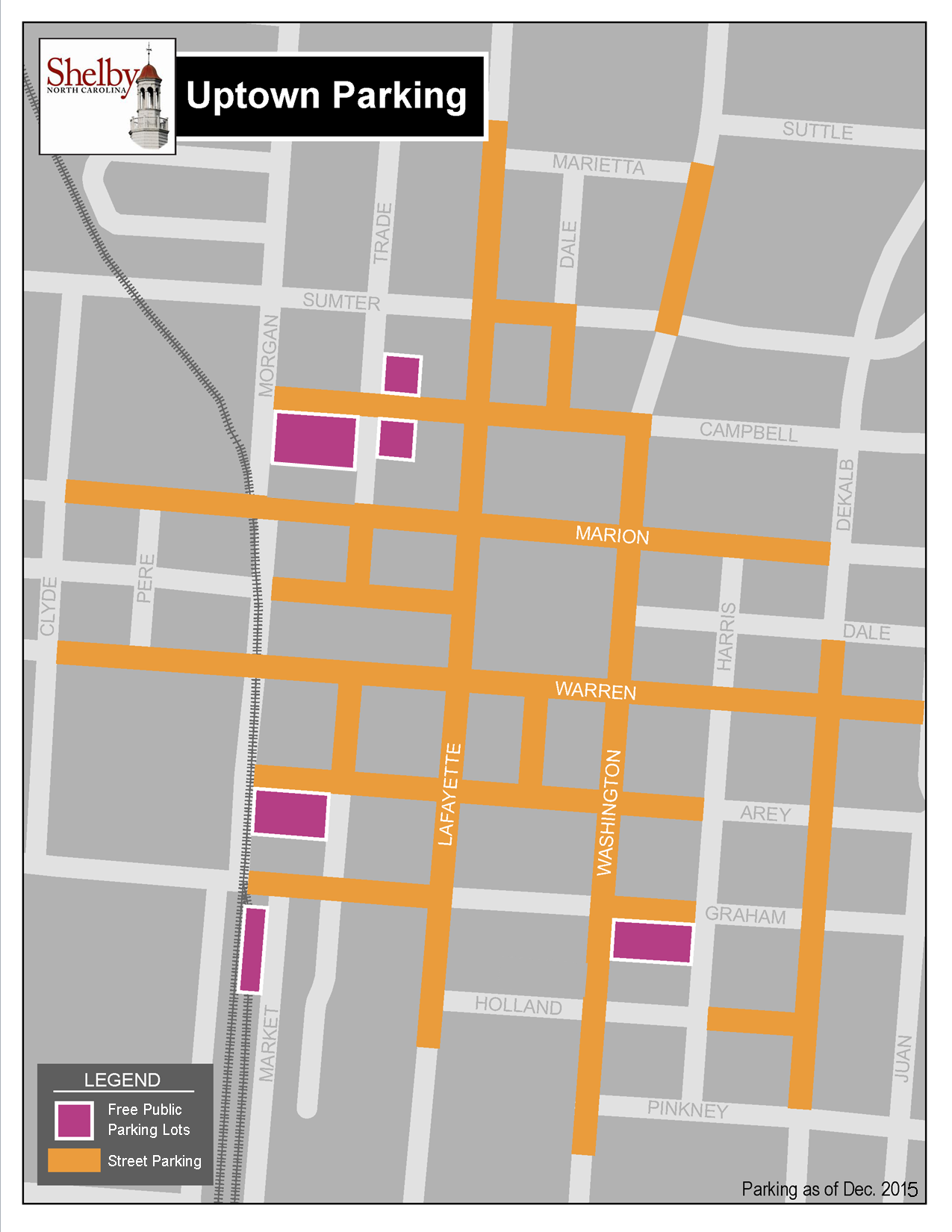 Public parking map Dec 2015