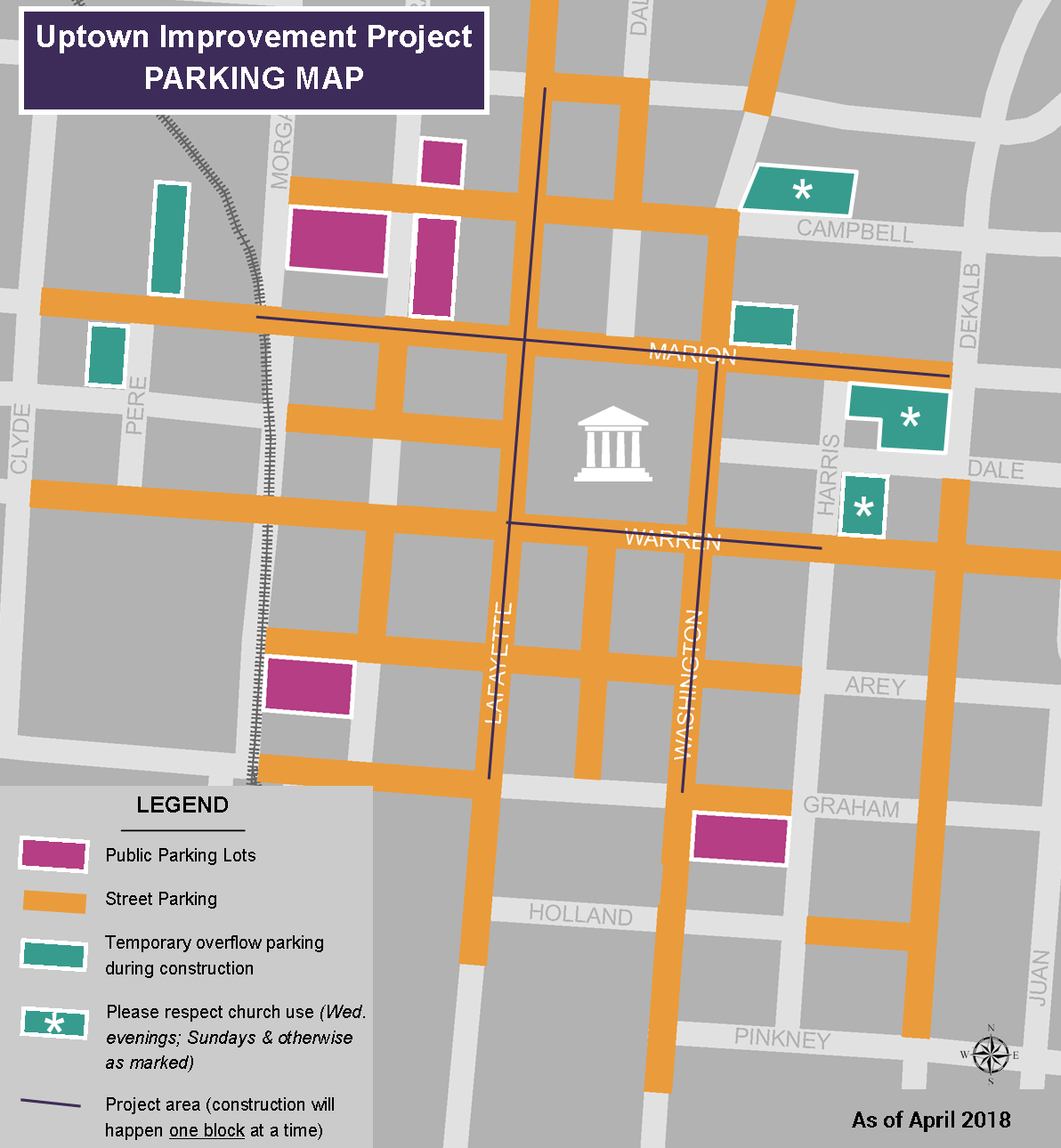 Public parking map condensed April 2018