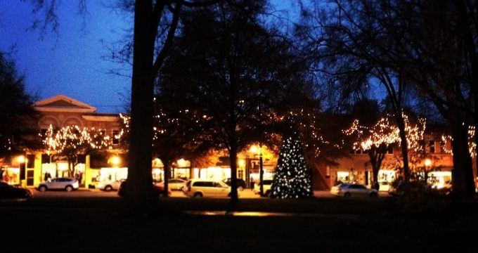 Christmas lights in Uptown Shelby